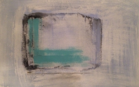 Hijainen tieto, 2017, akryyli paperille, 51 x 69cm