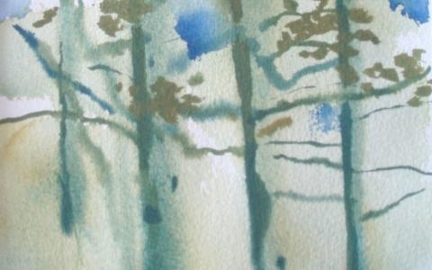 Nyt on kevät 2011, Akvarelli