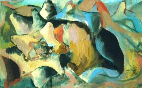 Seashell II 1999, oil