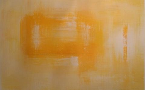 Keltainen hiljaisuus, 2017, akryyli paperille, 51 x 69cm