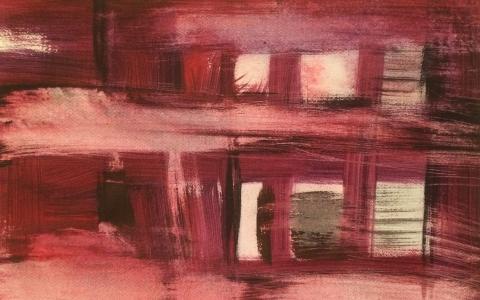 Ulkona humisevat tuulet, 2016, akryyli paperille, 51 x 69cm