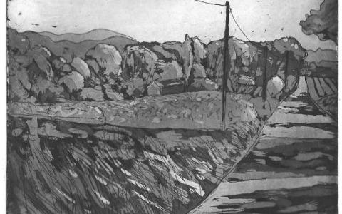 Provence, 2016, Etching, aquatint, 2014, 10,2x13,9