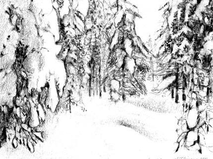 Valon kajastus, 2011, lyijykynä