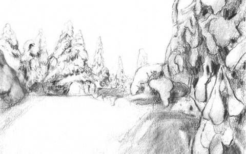 Snowy forest II 2011