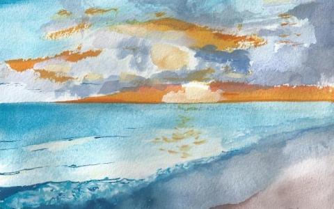 Kanarian saarilla 2015, Akvarelli