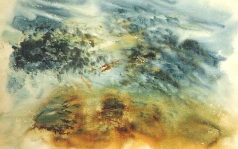 Saaristossa 1996, Akvarelli