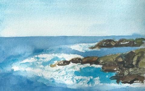 In Tenerife II 2015, Watercolor