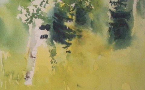 Huoleton kesäpäivä 2010, Akvarelli
