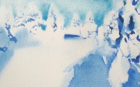 Valoja ja varjoja I 2014, Akvarelli