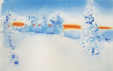 Valon raita 1 2014, Akvarelli